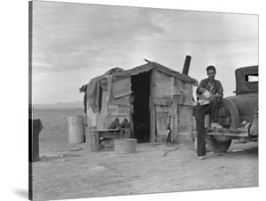 Migratory Mexican Field Worker's Home, Imperial Valley, California, c.1937 by Dorothea Lange