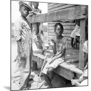 Mississippi African American children, 1936 by Dorothea Lange