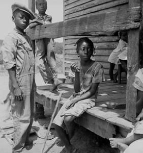 Mississippi Delta Negro Children by Dorothea Lange