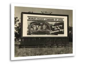 National Association of Manufacturers Billboard Campaigns Against New Deal Policies, 1937 by Dorothea Lange