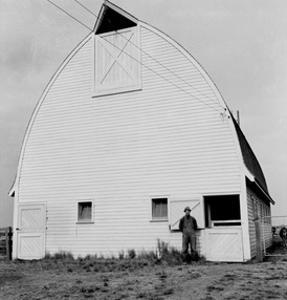 New Barn by Dorothea Lange