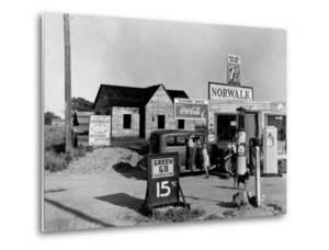 Newly Built Store and Trading Center, Typical of New Shacktown Community by Dorothea Lange