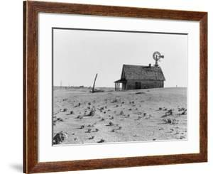Occupied house in Dalhart, Texas where most are abandoned in the drought, 1938 by Dorothea Lange