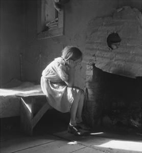 Resettled Farm Child by Dorothea Lange