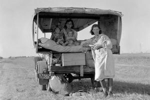 Searching for Work in the Cotton Fields by Dorothea Lange