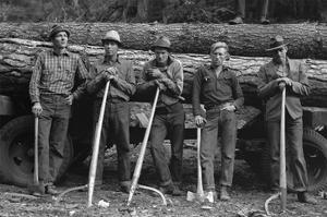 Self-Help Sawmill Workers by Dorothea Lange