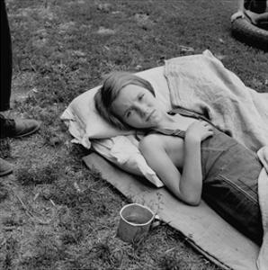 Sick Migrant Child by Dorothea Lange