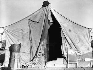 Tent in Labor Camp by Dorothea Lange