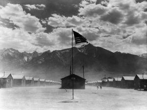 War Relocation Authority Center, Where Evacuees of Japanese Ancestry of WWII Reside by Dorothea Lange