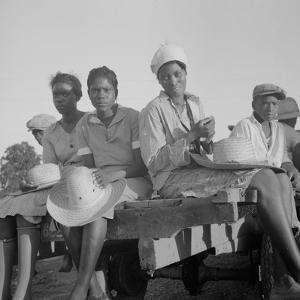 Women being transported from Memphis, Tennessee to an Arkansas plantation, July 1937 by Dorothea Lange