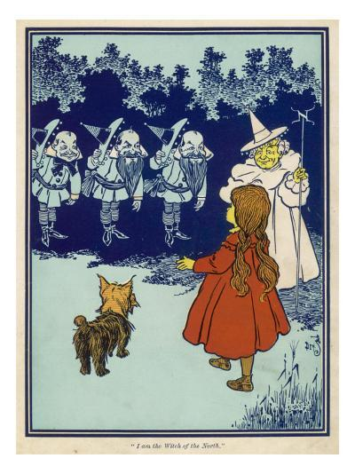 Dorothy and Toto Meet the Good Witch of the North and the Munchkins--Giclee Print