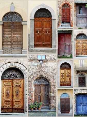 Italian Wooden Doors Collage