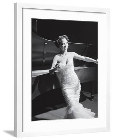 Dorothy Dandridge Dancing on a Night Club Dance Floor-Ed Clark-Framed Premium Photographic Print