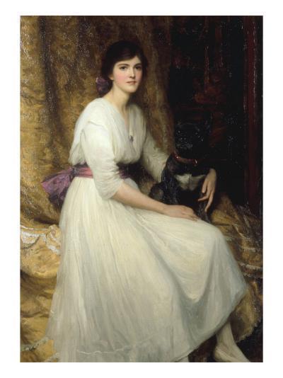 Dorothy, Daughter of Herbert Dicksee, 1917-Frank Bernard Dicksee-Giclee Print