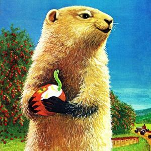 Groundhog and Apple - Jack & Jill by Dorothy Forsyth