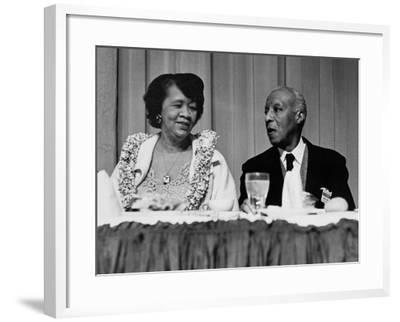 Dorothy Height and A. Philip Randolph in the Early 1970s--Framed Photo