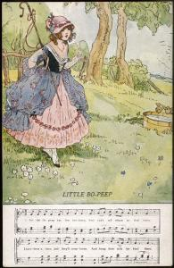 Bo-Peep is Advised Not to Worry About Her Lost Sheep by Dorothy Wheeler