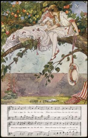 Child Sleeps in the Branches of a Tree Watched Over by Her Sister by Dorothy Wheeler