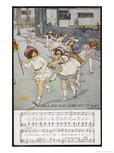 Girls and Boys Come out to Play the Moon Doth Shine as Bright as Day by Dorothy Wheeler
