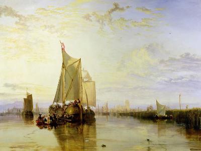 Dort or Dordrecht: the Dort Packet-Boat from Rotterdam Becalmed, 1817-18-J^ M^ W^ Turner-Giclee Print