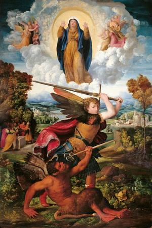 Archangel Michael and the Devil