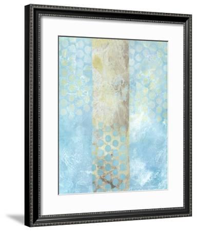 Dots on Blue I-Naomi McCavitt-Framed Art Print