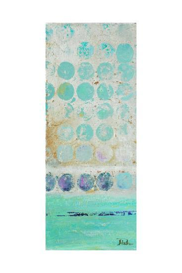 Dots on Silver Panel I-Patricia Pinto-Premium Giclee Print