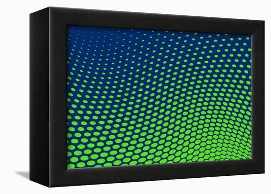 Dotted Background Vector-VolsKinvols-Framed Stretched Canvas