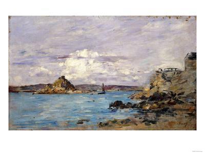 Douarnenez: the Bay (Draft); La Baie (Esquisse), 1895-1897-Eug?ne Boudin-Giclee Print