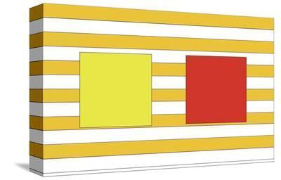 Double Block on Stripe-Dan Bleier-Stretched Canvas Print