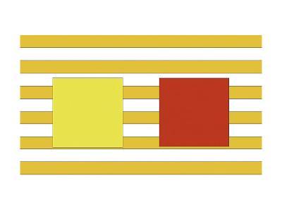 Double Block on Stripe-Dan Bleier-Art Print