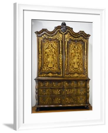 Double Body Sideboard, Inlaid Wood, Netherlands--Framed Giclee Print