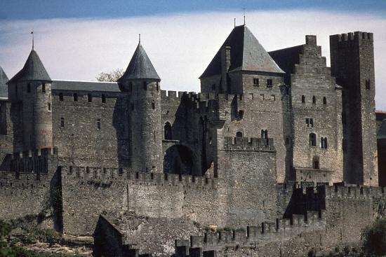 Double Boundary Wall of the Fortified Town, Carcassonne--Photographic Print