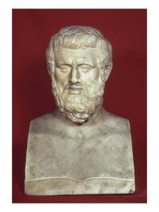 Double buste : Aristophane (vers 450-386) et Sophocle (vers 496-406)