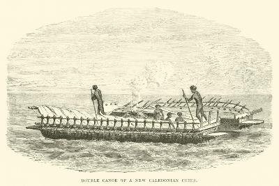 Double Canoe of a New Caledonian Chief--Giclee Print