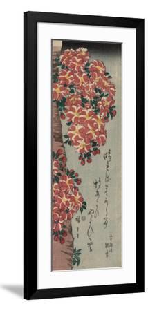Double Cherry in Flower-Ando Hiroshige-Framed Art Print