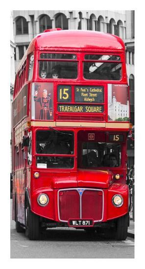 Double-Decker bus, London-Pangea Images-Art Print