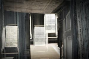 Double Exposure of Room Inside an Old Plantation Home in Charleston, SC