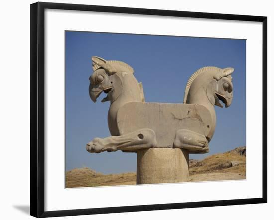 Double-Headed Eagle, Persepolis, UNESCO World Heritage Site, Iran, Middle East-Poole David-Framed Photographic Print