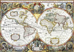 Double-Hemisphere Map of the World 1630