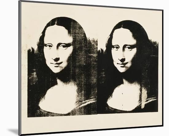 Double Mona Lisa, 1963-Andy Warhol-Mounted Art Print