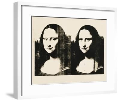 Double Mona Lisa, c.1963-Andy Warhol-Framed Giclee Print