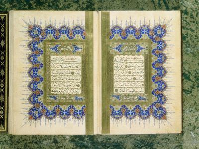 Double Page Spread from a Koran with Marginal Decoration, 1867--Giclee Print
