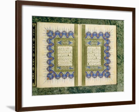 Double Page Spread from a Koran with Marginal Decoration, 1867--Framed Giclee Print