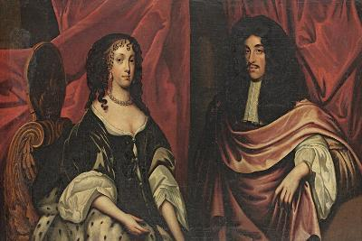 Double Portrait of King Charles II and Catherine of Braganza, C.1665--Giclee Print
