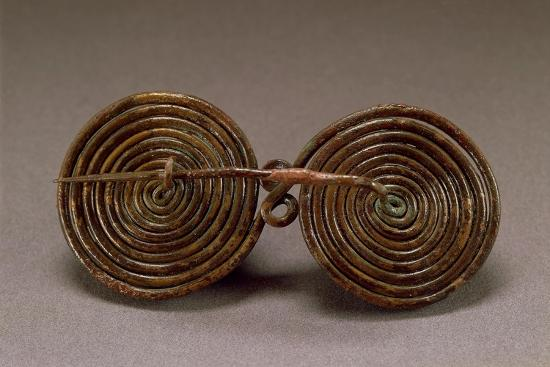 Double-Spiral Bronze Fibula--Giclee Print