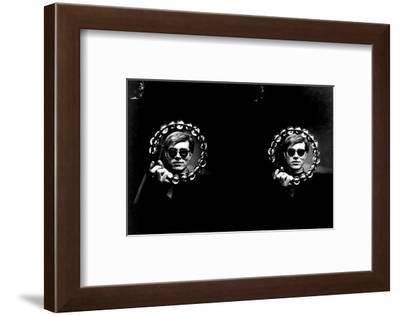 Double Tambourine, circa 1966-Andy Warhol/ Nat Finkelstein-Framed Art Print