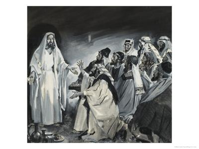 Doubting Thomas, Seeing Christ After the Resurrection-James Edwin Mcconnell-Giclee Print