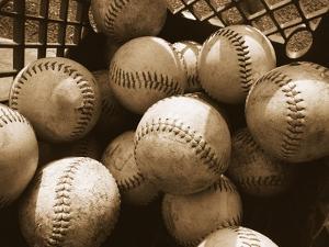 Crate Full of Worn Softballs by Doug Berry