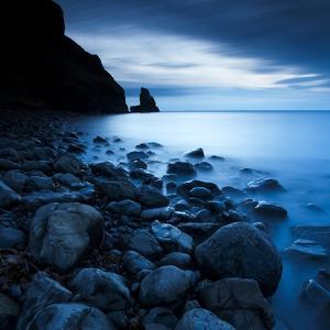 Talisker Bay under a Winter Moon by Doug Chinnery